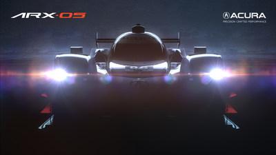 Acura ARX-05 Daytona Prototype international (DPi) Race Car (PRNewsfoto/Acura)
