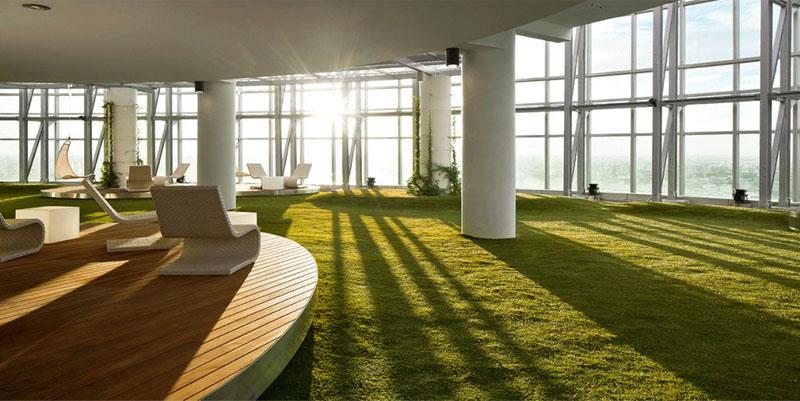 Oficina concepto verde