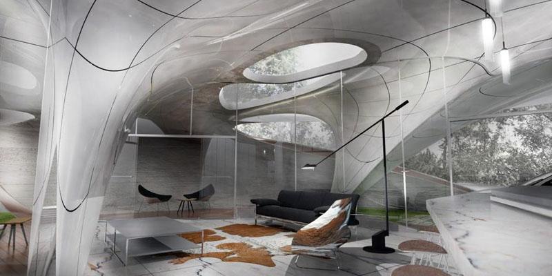 La primera casa con forma libre impresa en 3D