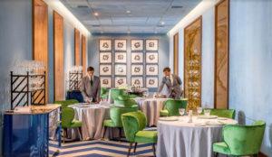 El salon azul, Restaurant Coque.