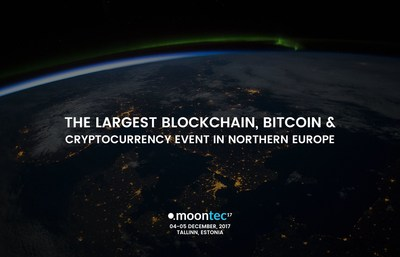 Tallinn hosts North Europe's largest cryptocurrency & blockchain event. (PRNewsfoto/Moontec17)