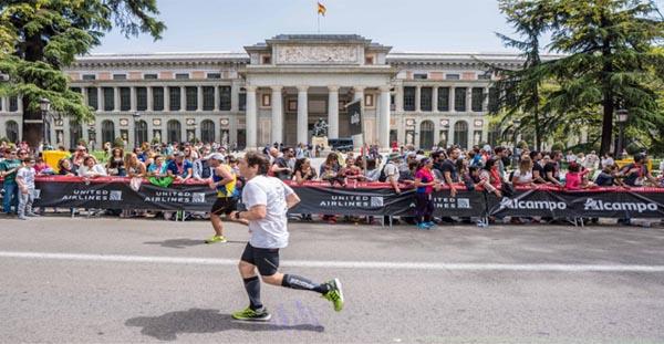 El maraton llegando al Prado