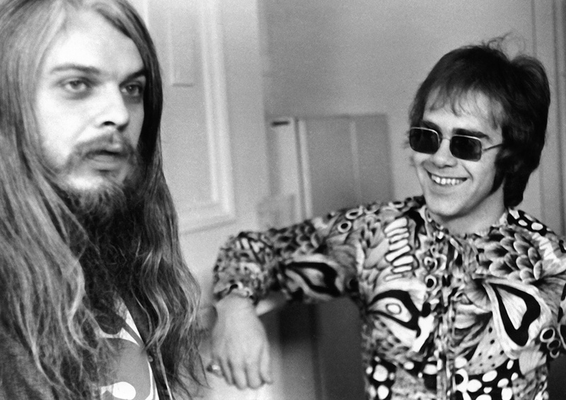 Aquí estoy con Leon Russell en Nueva York, 1970