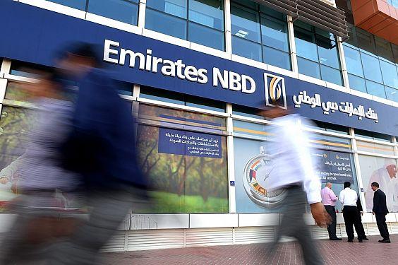 Fachada del banco Emirates NBD
