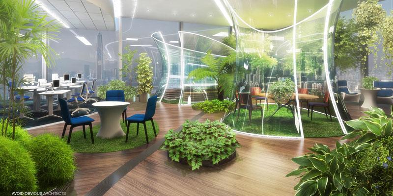 La oficina del futuro Un Parque siempre Verde