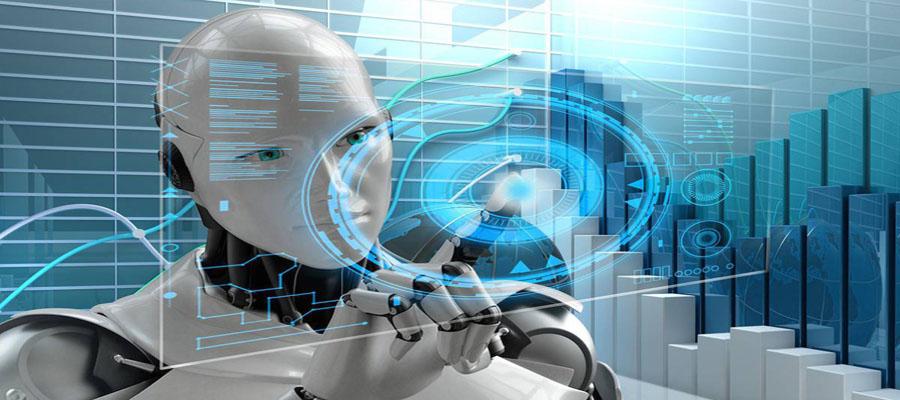 IA robot con inteligencia artificial