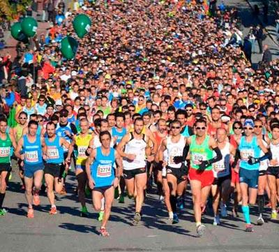El maratón en acción...