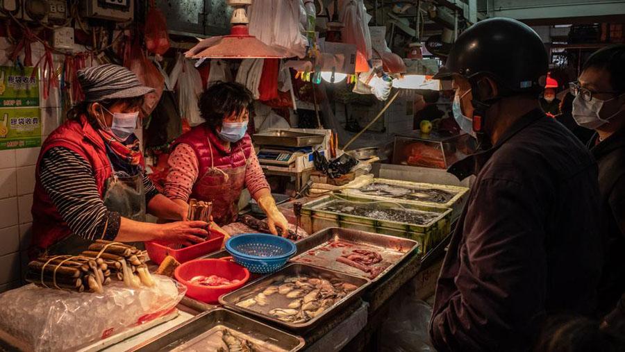 Mercado de Wuhan en China