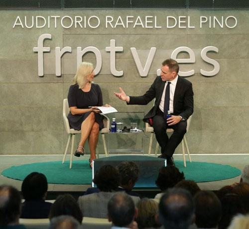 Niall Ferguson y Rafael del-Pino en Fundacion Rafael del Pino.