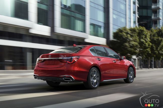 002 - 2018 Acura RLX Sport Hybrid in Brilliant Red Metallic