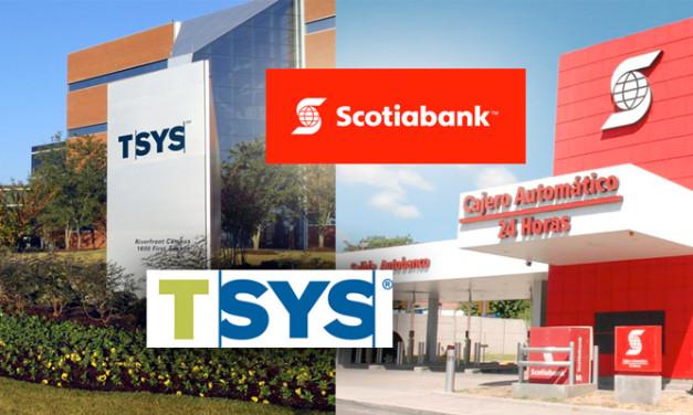TSYS firma un acuerdo de pagos con Scotiabank