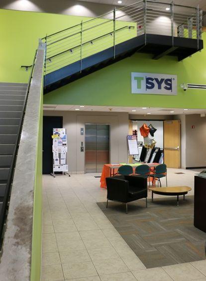 TSYS, área de la recepción