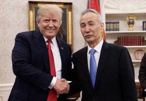 Trump-con-el-Vice-Primer-Ministro-chino-Liu-He