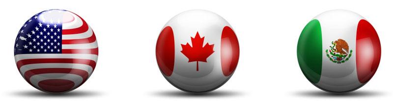 Flag Spheres - North America