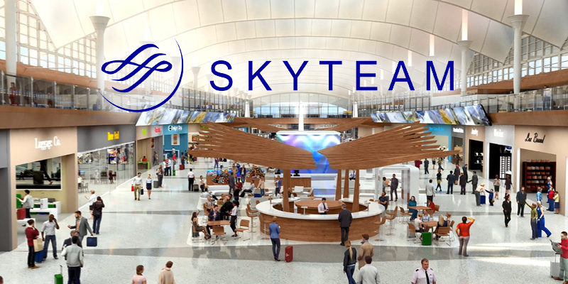 SkyTeam: mapas digitales interactivos en aeropuertos