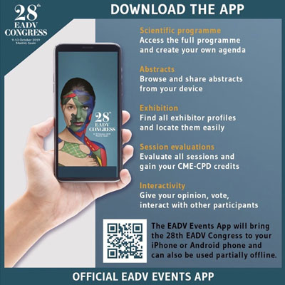 App del 28 EADV Congress, Madrid 2019