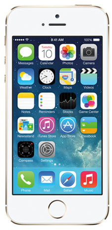Apple-iphone-5s-gold-front