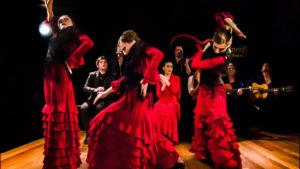 Espectáculo de flamenco con bailaoras
