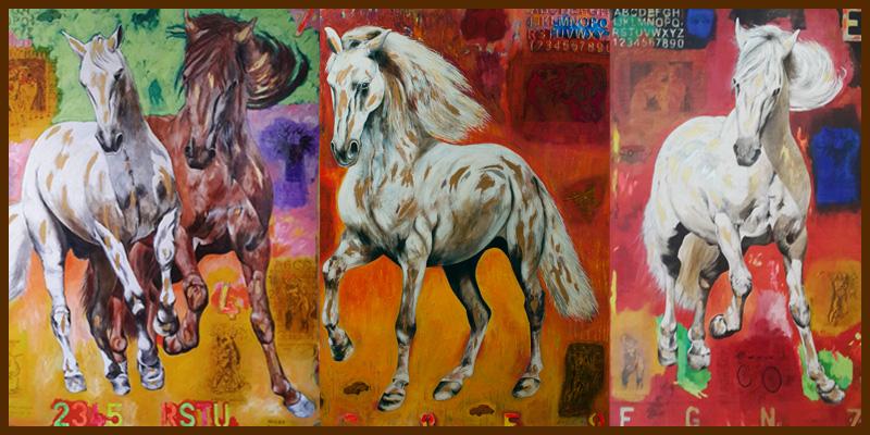 Triptico de caballos