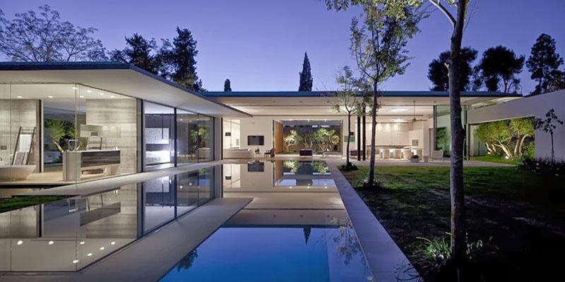 La casa moderna que flota
