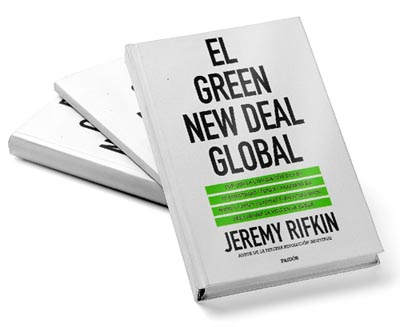 "Portada del libro el ""Green New Deal Global""."