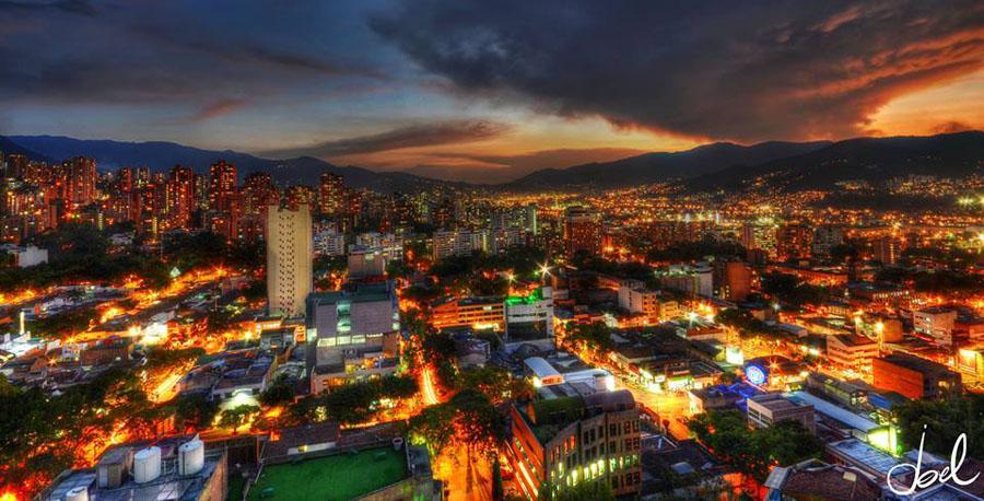 Vista de Medellin, Colombia