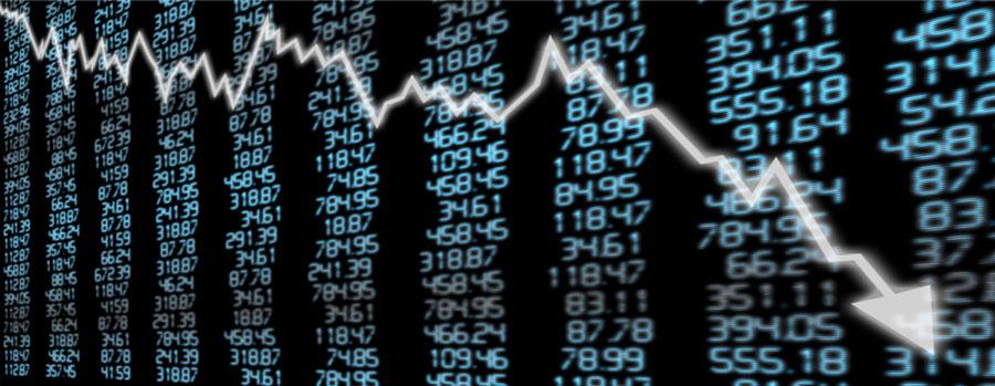 Mercados en deterioro, los indicadores bajan.