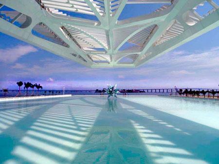 Museo del Mañana, vista central. Copyright-Santiago Calatrava