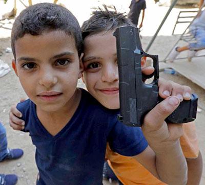 niños armados