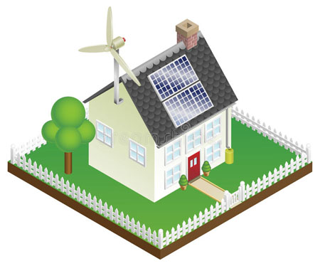 sustainable renewable energy house
