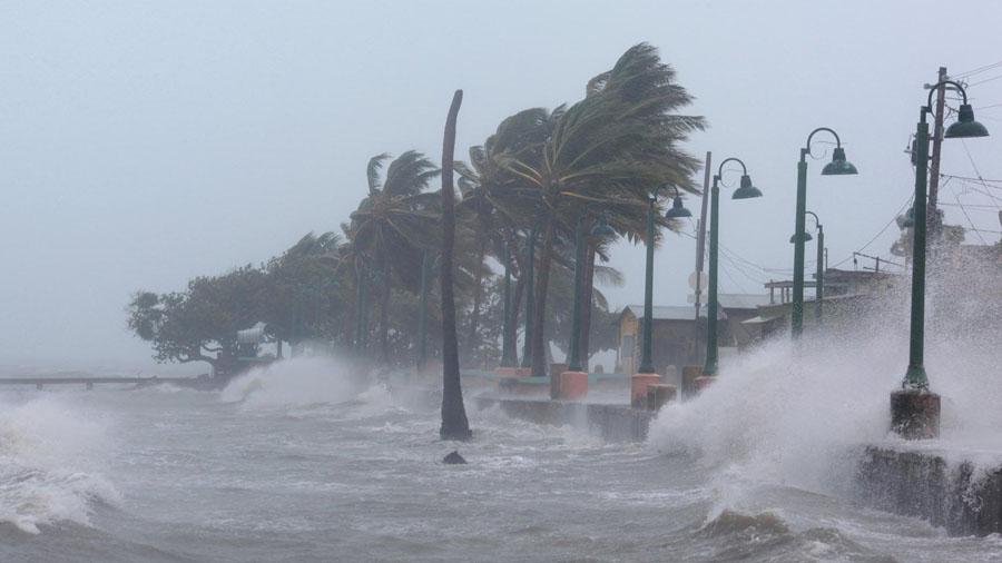 tempestad en playa